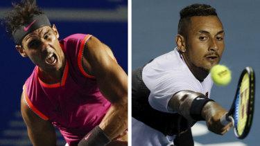 Frosty: Rafael Nadal and Nick Kyrgios.