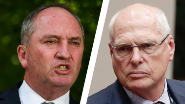 Barnaby Joyce has taken aim at Jim Molan as a Coalition civil war rages in the Senate race.