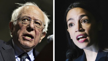 Bernie Sanders and Alexandria Ocasio-Cortez. The more progressive Democrats are advocating a novel response to economic stagnation.
