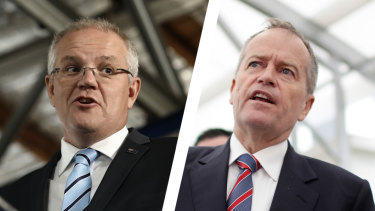 Prime Minister Scott Morrison and Opposition Leader Bill Shorten.