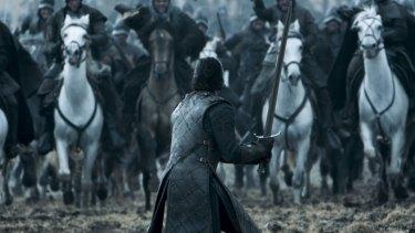 Kit Harrington as Jon Snow, with his now-famous sword.