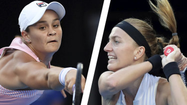 Ashleigh Barty lost to Petra Kvitova on Tuesday night.