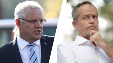 Scott Morrison and Bill Shorten have clashed over climate policy.