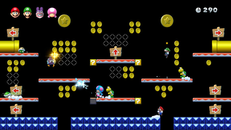 You can play Coin Battle on the standard levels, but the dedicated battle stages are best.