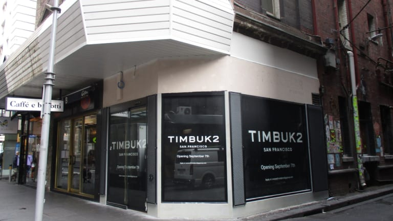 San Francisco-based bag manufacturer Timbuk2 has set its sights on Melbourne's shoppers.