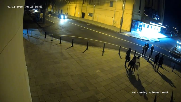 Images from CCTV cameras of the youths allegedly involved in the bashing of chefs from Donovans restaurant in St Kilda.