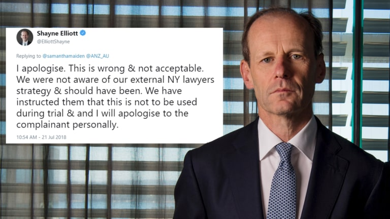 ANZ Bank's CEO Shayne Elliott took to social media to address the incident.