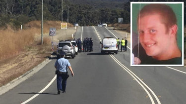 Police found Wade Still (inset) badly burnt on the side of a road in Whitebridge, Lake Macquarie, on August 20.