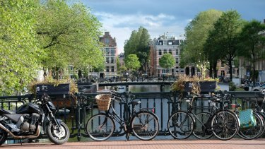 Bike-riding in Amsterdam is more than just a romantic notion.