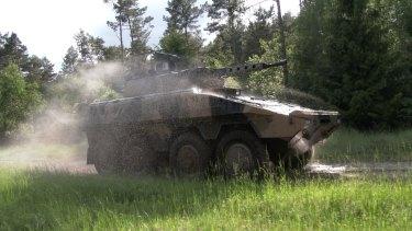 The Boxer Combat Reconnaissance Vehicle (CRV) for LAND 400 Phase 2.