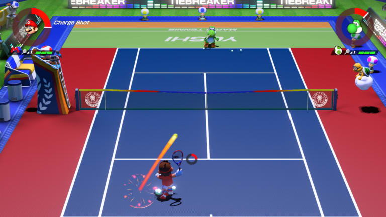 Aces is a technical game of tennis,  but with a very video gamey edge.