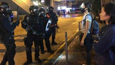 Residents in Mongkok heckled police.