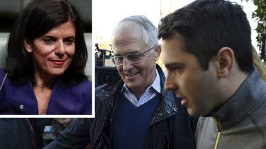 Julia Banks, Malcolm Turnbull and Alex Turnbull.
