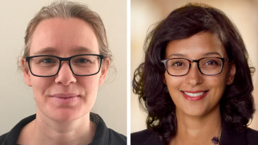 Research fellow Dr Katrina Hutchison and plastic and reconstructive surgeon Dr Neela Janakiramanan.
