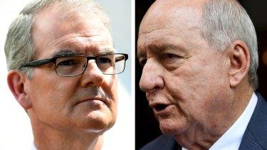 Michael Daley and Alan Jones: The shock jock returned fire against the Opposition Leader on Wednesday morning.