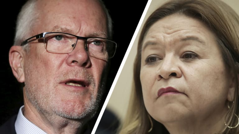 Justin Milne and Michelle Guthrie.