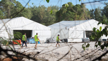 Refugee processing centre at Nauru.