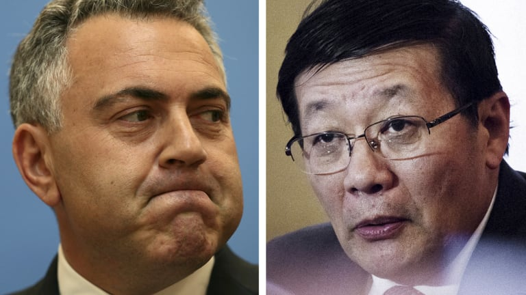 Joe Hockey didn't expect Chinese finance minister Lou Jiwei's questions.