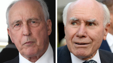 Former prime ministers Paul Keating and John Howard are both lending a hand in the final week of the campaign.