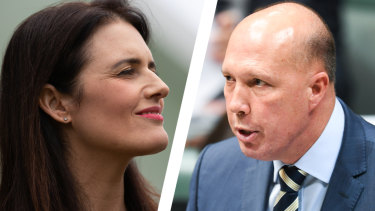 Ali France and Peter Dutton are facing off in the seat of Dickson.