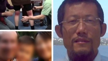 Hong Chi Xiao, right, has been found guilty of manslaughter after a six-year-old died, bottom left, following a