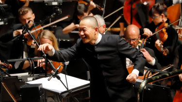 A hit with the audience: Composer and conductor Tan Dun.