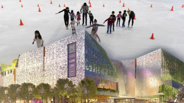 An artist's impression of the proposed redevelopment of the Macquarie Centre that would have forced the closure of the iconic ice rink.