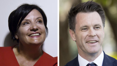 Right split ... factional colleagues Jodi McKay and Chris Minns are vying for the leadership of a divided NSW Labor Party.