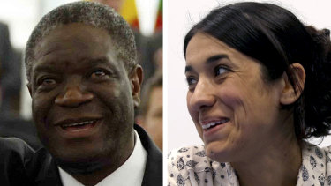 Denis Mukwege and Nadia Murad won the 2018 Nobel Peace Prize.
