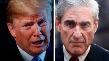 Donald Trump and Robert Mueller.