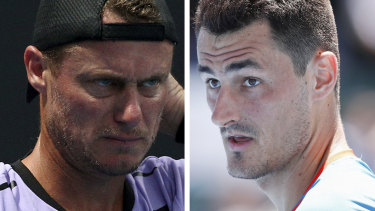 Falling out: The rift between Lleyton Hewitt and Tomic shows no sign of deescalating.