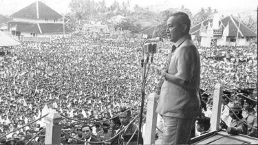President Suharto in 1971.