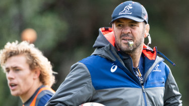Future uncertain: Michael Cheika's position is under review by the Rugby Australia board.
