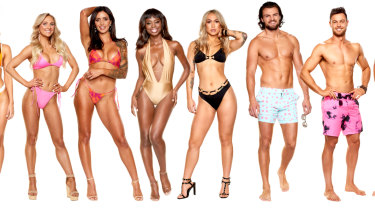 Some of the cast of Love Island Australia season two.