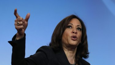 California senator Kamala Harris gave a forceful performance in the second Democratic debate in Miami.