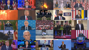US election 2020: eight weeks boiled down into 16 minutes