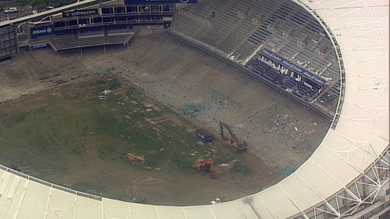 'Small amounts' of asbestos found on Allianz Stadium site
