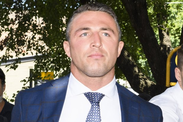 Sam Burgess after an appearance at Moss Vale court in February.