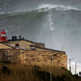 Town feared 10-storey waves, then surfers showed up