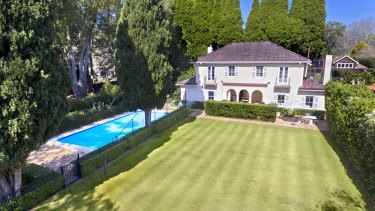 The Abbott's French-inspired mansion in Wahroonga, worth $3.5 million.