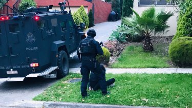 Homicide squad arrest three men following the death of Adrian Pacione.