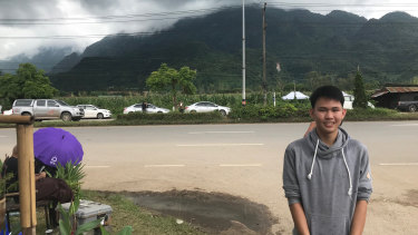 "Auttaporn Khamheng, a friend of some of the boys stuck in a Thai cave, has praised his former soccer coach in there with them as the ""real hero""."