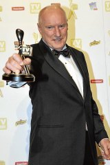Ray Meagher wins the Gold Logie in 2010.