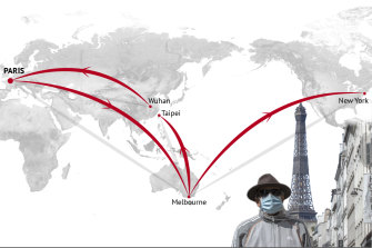 Nadia's virus was traced back through Europe to the original outbreak in China.