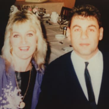 Wendy Peirce and Victor Peirce at a wedding reception in June 1987, 16 months before the fatal shooting of two police in Walsh Street.