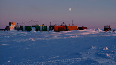 The ice core drilling station at Law Dome, 120 kilometres inland from Casey Station.