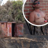 Wooroloo man charged over devastating inferno told the media he was sleeping when the fire started
