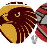 AFL 2021 as it happened: Hawthorn Hawks, Essendon Bombers do battle in Launceston