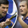 Novak Djokovic took on Daniil Medvedev in the US Open final.