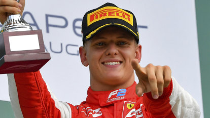 Schumacher's son claims emotional, breakthrough Formula Two win